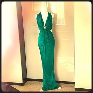 Roberto Cavalli green gown dress